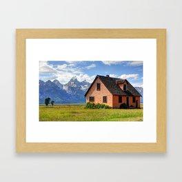 John Moulton Home Grand Teton National Park Framed Art Print