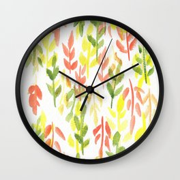 170814 Leaves Watercolour 1 Wall Clock