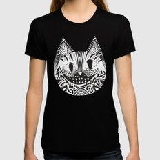 CHESHIRE CAT Womens Fitted Tee Black MEDIUM