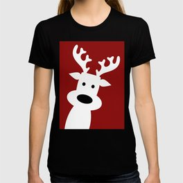 Reindeer on red background T-shirt