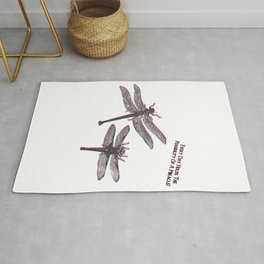 Insect dragonfly dragonflies saying quote gift Rug