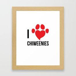 I Love Chiweenie Logo T-Shirt Framed Art Print
