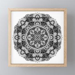 Black and White Mandala Pattern 011 Framed Mini Art Print