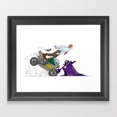 kick ass  Framed Art Print