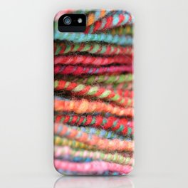 Handspun Yarn Color Pattern by robayre iPhone Case
