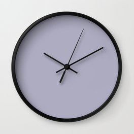 Light Pastel Purple Solid Color Inspired By Valspar America Lavender Lake 4001-5C Wall Clock