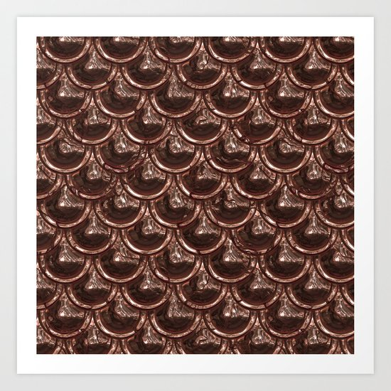 Precious copper scales Art Print