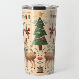 Vintage Holiday Christmas Jubilee Travel Mug