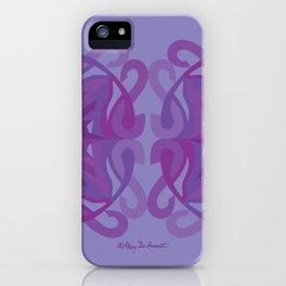 Safe Mandala x2 - Purple Lavender iPhone Case