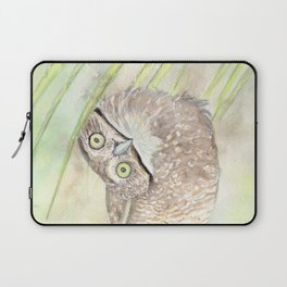 """Watercolor Painting of Picture """"Vizcachera Owl"""" Laptop Sleeve"""