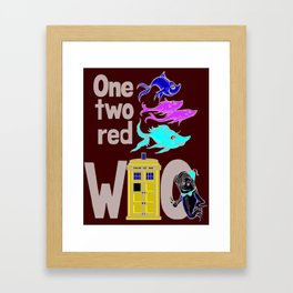 Doctor WHO Fish Framed Art Print