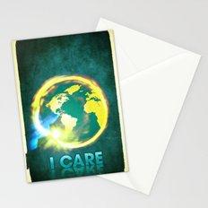I Care / Blue Stationery Cards