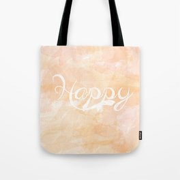 Watercolor Happy Tote Bag