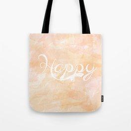 Watercolor Happy Tote Bag