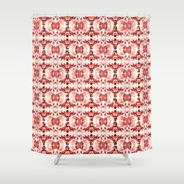 CORAL ABSTRACT LEAVES Shower Curtain
