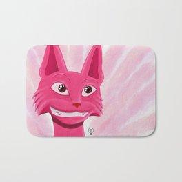 Lollipop the pinky cat Bath Mat