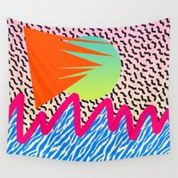 wave Wall Tapestries featuring WAVE by DIVIDUS