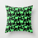 Green Snobby Cats by johnaconroy