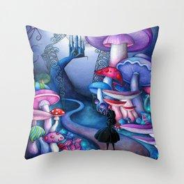 Alice - Gates to Wonderland Throw Pillow