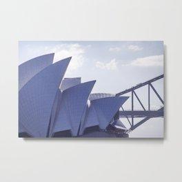 Sydney Opera House and the Harbour Bridge | Sydney, Australia Metal Print