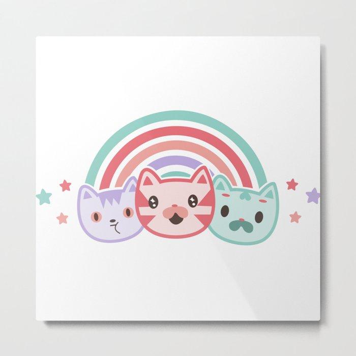 Cute cats Metal Print