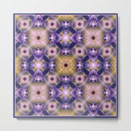 Pink purple print. Abstraction. Metal Print