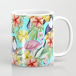 Tropical birds and flowers Coffee Mug