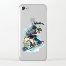 Snow board Clear iPhone Case