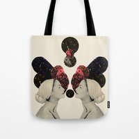 helen Tote Bags featuring helen and clytemnestra by cardboardcities