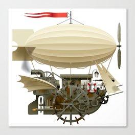 Flying Ship Canvas Print