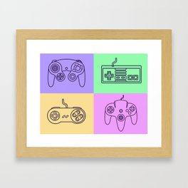 Nintendo Gaming Controllers - Retro Style! Framed Art Print