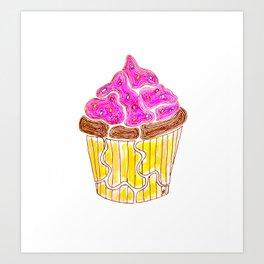 """Cupcake, just treat yourself."" Art Print"