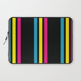 Stripes on Black Laptop Sleeve