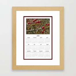 Berries 2013 Calendar Framed Art Print