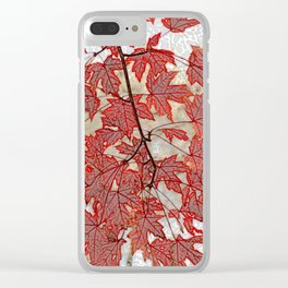 Flame maple Clear iPhone Case
