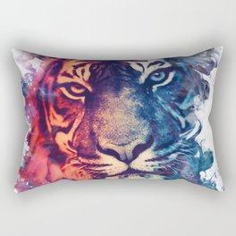Tiger Portrait Smokey Watercolor Rectangular Pillow