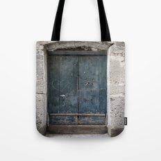 Green Door with Heart Tote Bag
