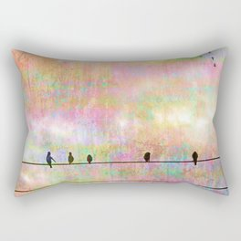 The Quickening, Abstract Sky and Birds Rectangular Pillow