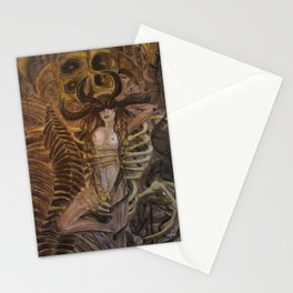 Skeleton Machine Stationery Cards