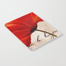 Coquelicots Red Notebook