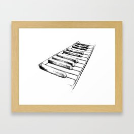 Sketching Pianos Doesn't Make You Better At Piano Framed Art Print