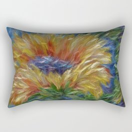 Sunflower Painting Rectangular Pillow