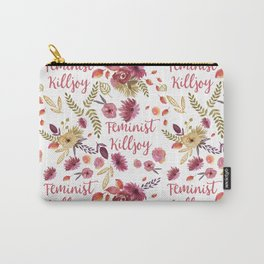 'Feminist Killjoy' cute floral print Carry-All Pouch