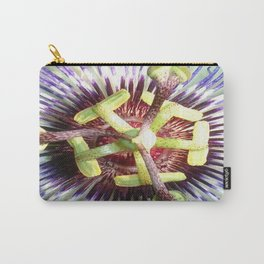 Close Up of The Centre Of a Passiflora Flower Carry-All Pouch