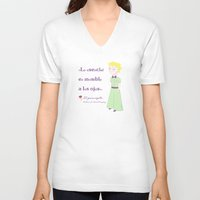 little prince V-neck T-shirts featuring Cute little prince by Pendientera