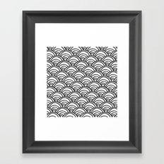 Waves All Over - Black on White Framed Art Print