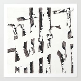 Forest abstract minimal painting Art Print