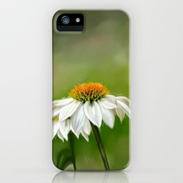 Little White Cone Flower iPhone Case
