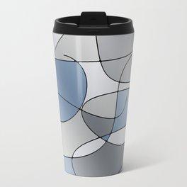 ABSTRACT CURVES #1 (Grays) Travel Mug