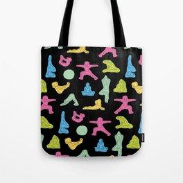 Rainbow Yoga Pattern Tote Bag